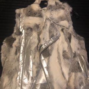 100% Fur Rabbit Vest - Cache